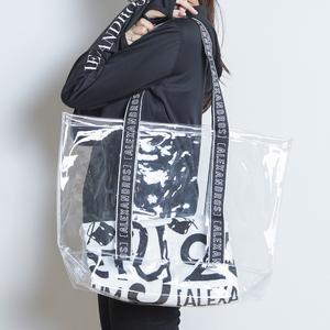 LOGO TAPE VINYL TOTE BAG (See-Through)